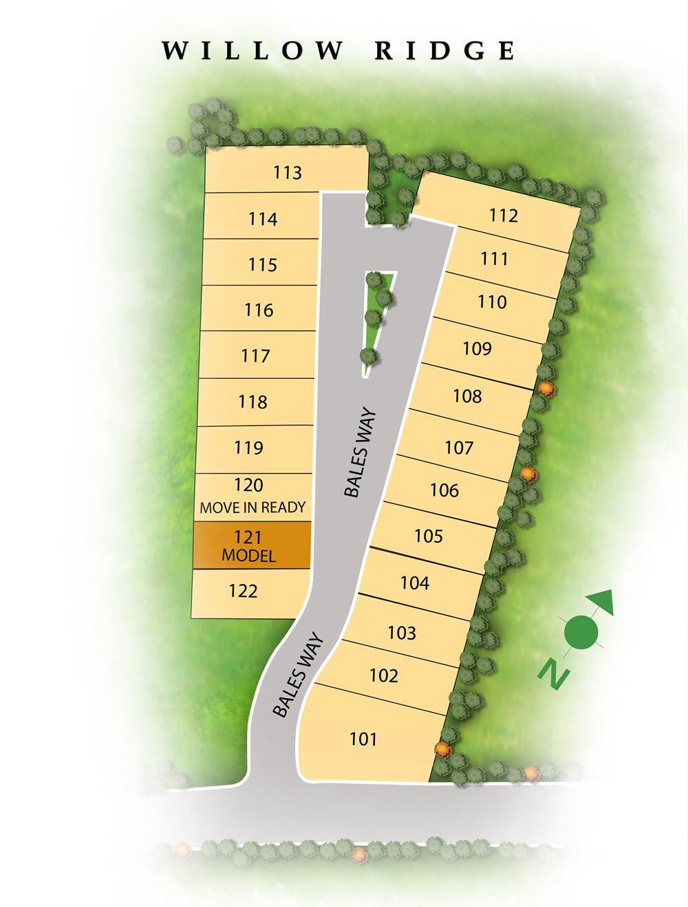 Willow Ridge plat map